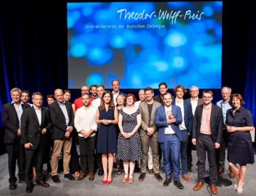 BDZV: Theodor-Wolff-Preis 2019